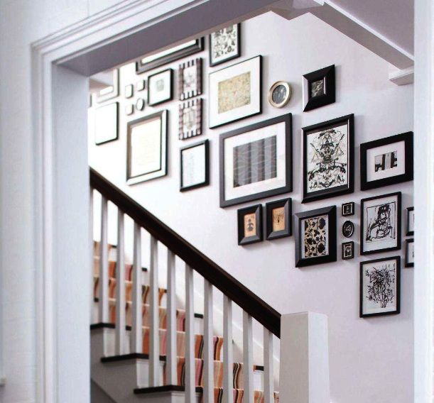 Decorating A Staircase Ideas Inspiration: Beautiful Stairway Decorating Ideas With Frame