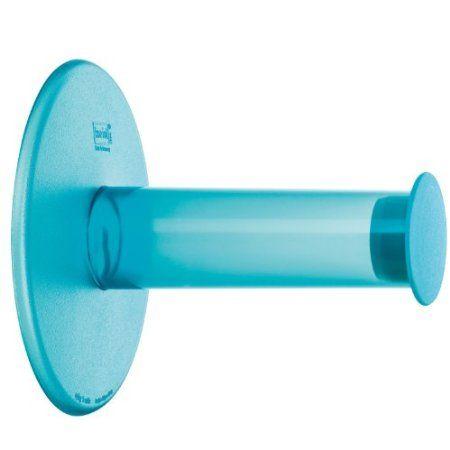 Wohnaccessoires türkis  Koziol WC-Rollenhalter Plug n Roll transparent türkis ...