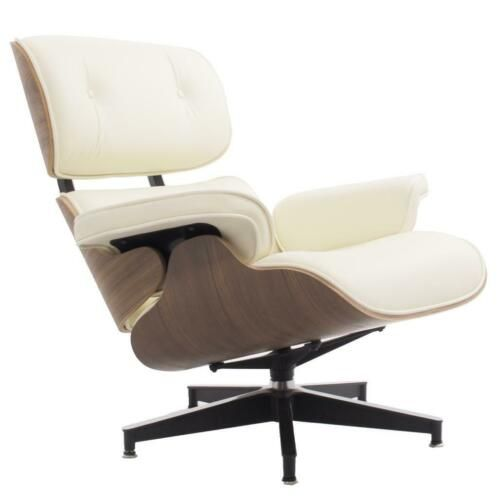 Charles Eames reproductie, lounge stoel Lounge creme