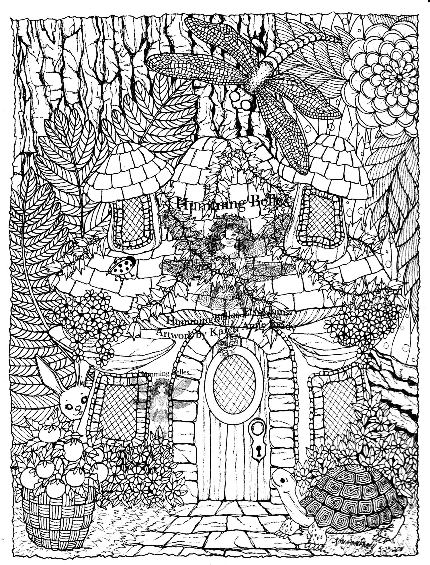 Hidden Animals In A Magnificient Drawing To Color From The Gallery Turtles Detailed Coloring Pages Coloring Pages Nature Animal Coloring Pages