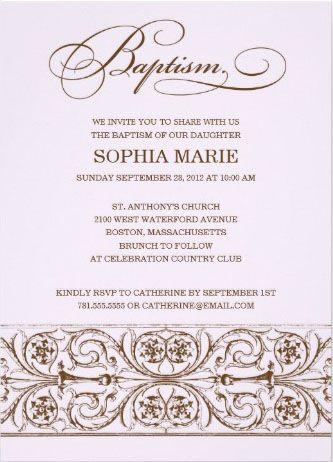 classic clean and elegant baptism invitation baptism invitations