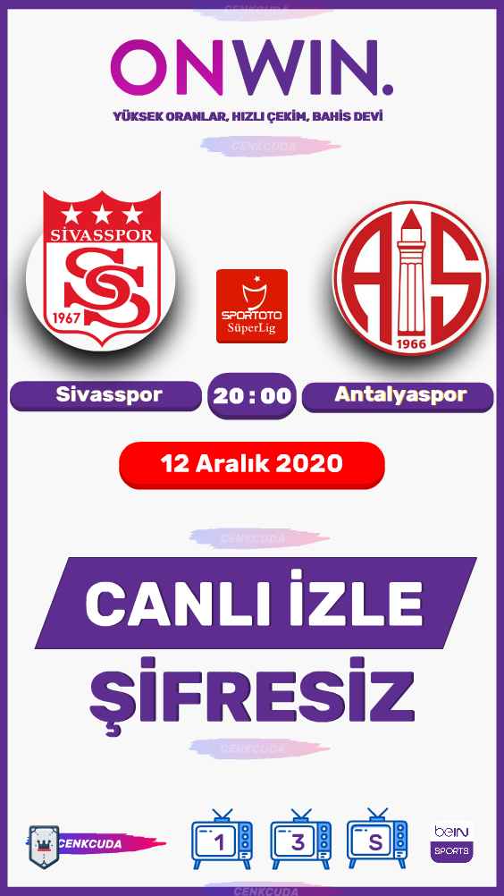 Sivasspor Antalyaspor Maci Canli Izle Sifresiz Reklamsiz Donmadna Izle S Sport Mac Izleme Tv