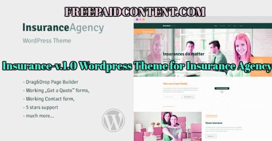 Insurance-v.1.0 WordPress-theme for insurance-agency nulled is the ...