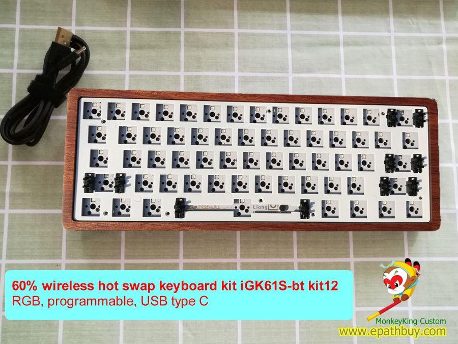 Hot Swap Mechanical Keyboard Kit 61 Keys 60 Diy Wireless Keyboard Custom Kit Rgb Keyboard Diy Mechanical Keyboard Mechanic