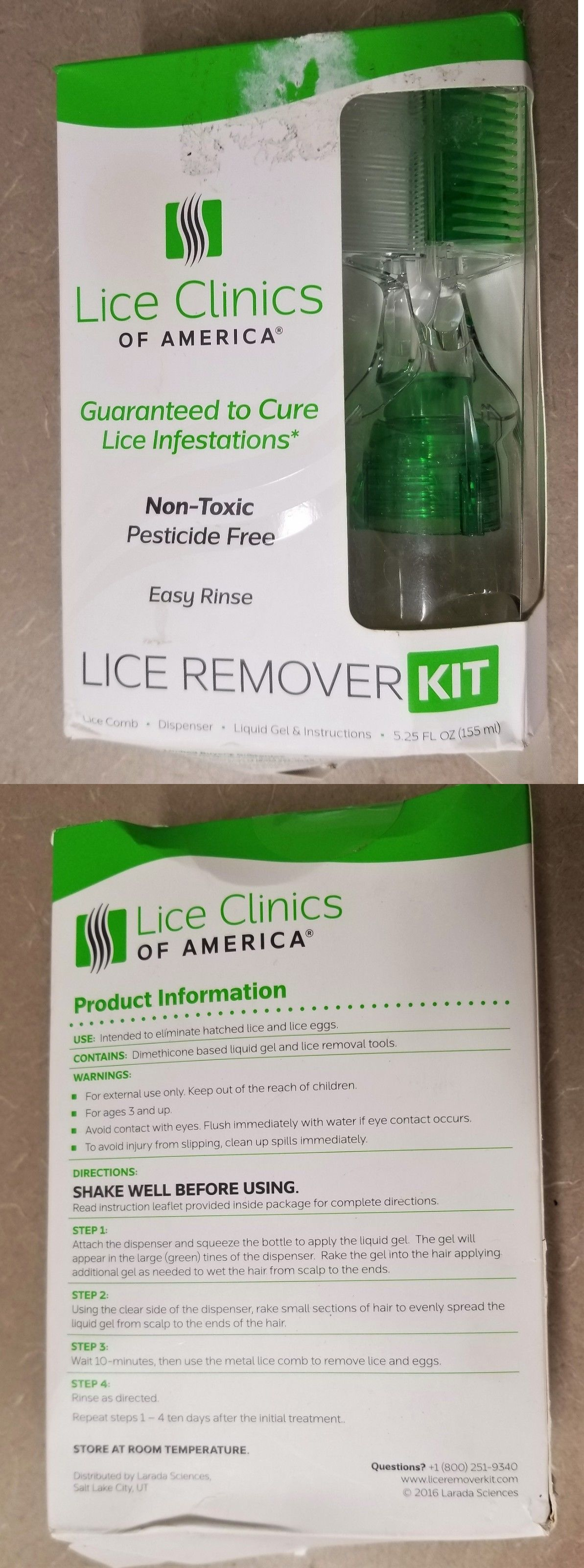 NEW Lice Clinics Of America Live Remover Kit With Comb Lice Remover