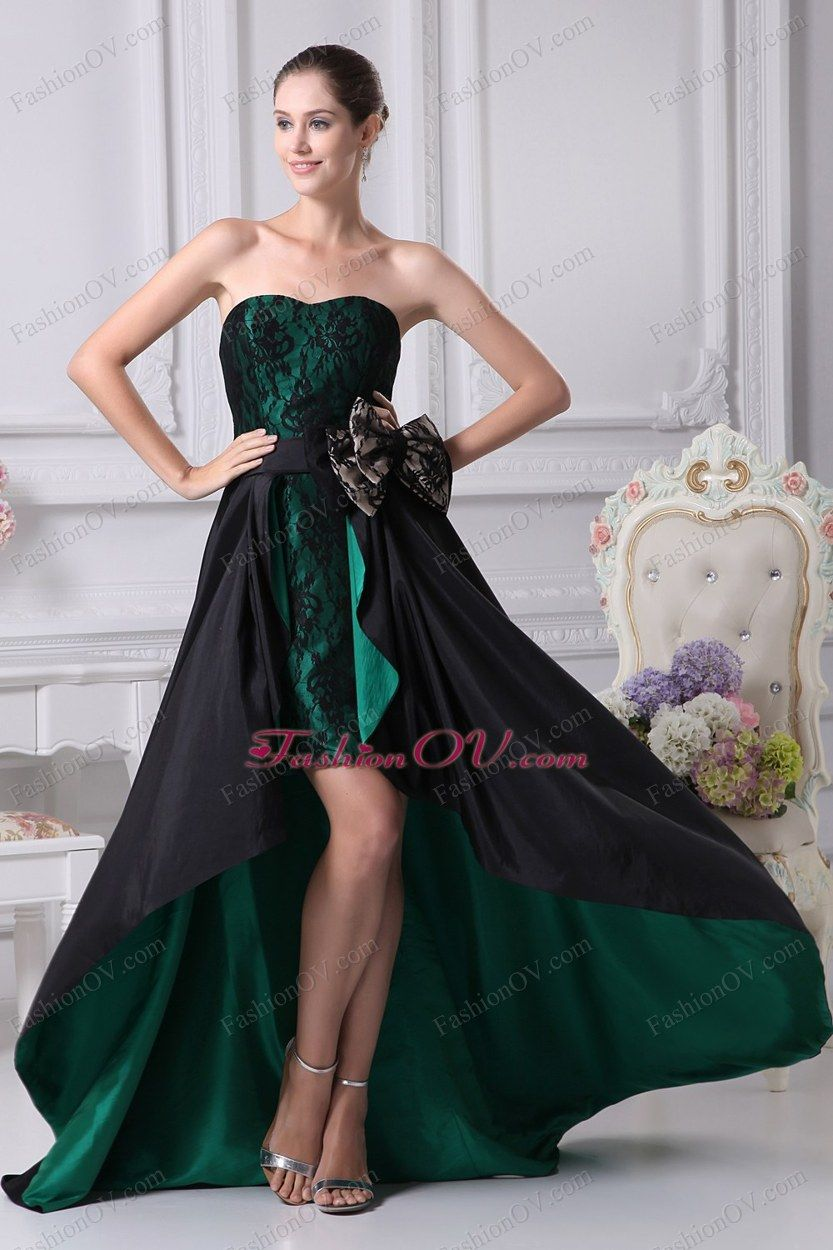 Bowknot highlow prom dress beautiful dresses and clothes