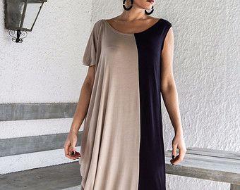 Gray Maxi Long Sleeve Dress   Gray Kaftan   Asymmetric Plus Size Dress    Oversize Loose Dress   6a55a2e63c