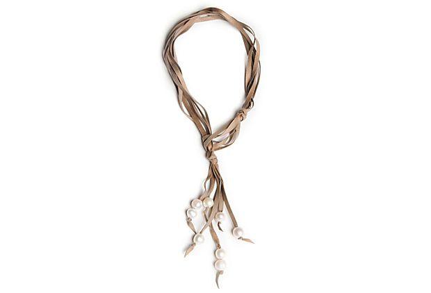 Camilla Tassel Necklace, White on OneKingsLane.com
