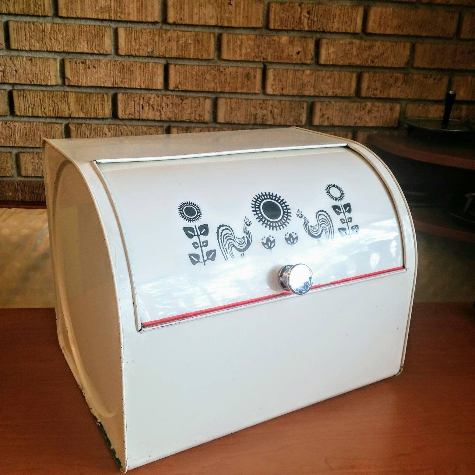 Antique Metal Bread Box 1940 S Vintage Bread Boxes Bread Boxes