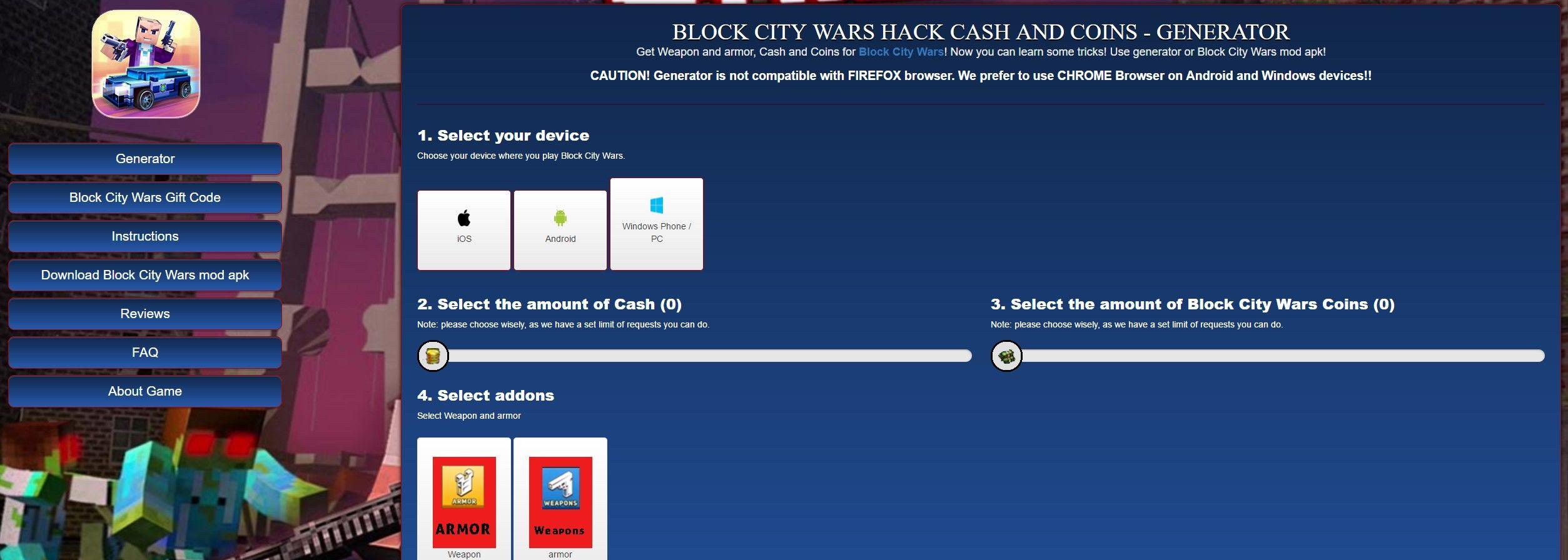 block city wars hack unlimited money