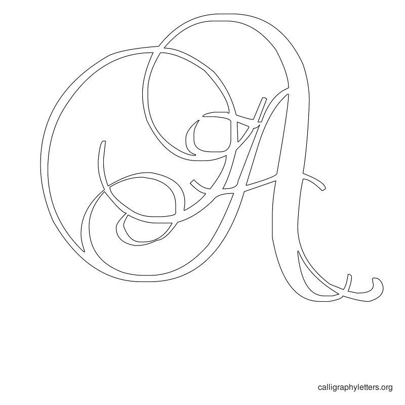 Letter stencils printable calligraphy