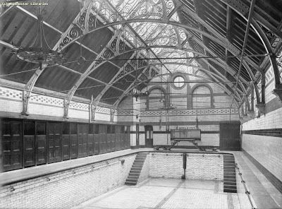Andrew simpson going swimming on ashton old road in 1905 - Altrincham leisure centre swimming pool ...