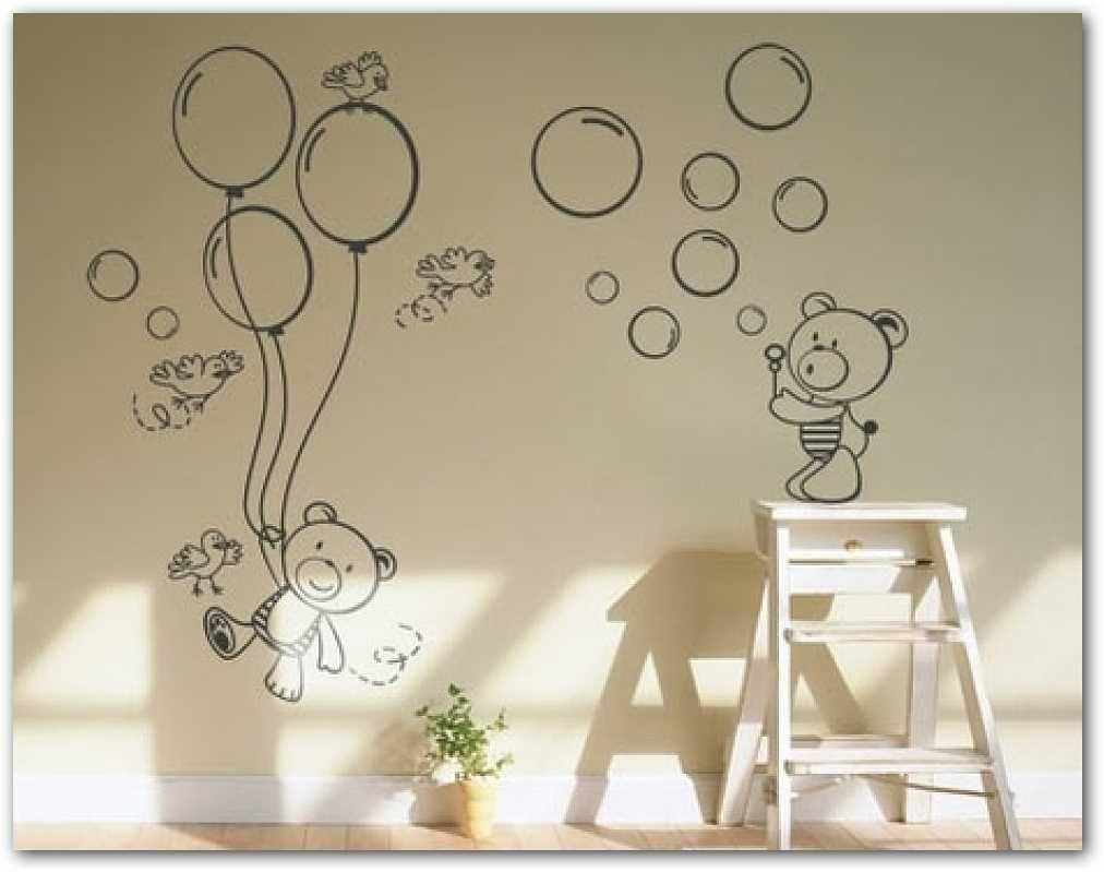 Fotos o im genes ositos en mural habitacion de bebe - Dibujos habitacion bebe ...