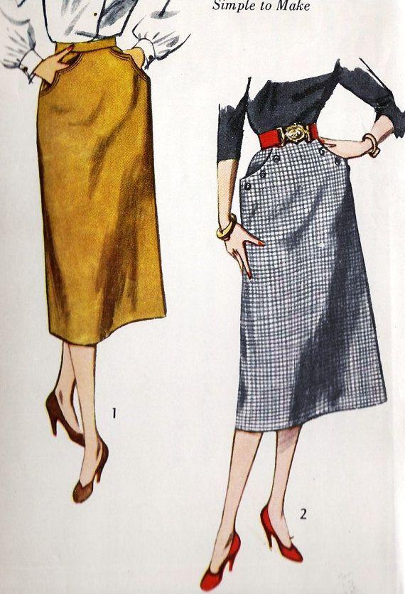 1950s Misses Skirt   MODA SAIAS   Pinterest   Faldas bonitas, Moda ...