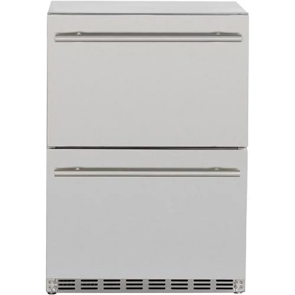 Summerset 24 Inch 5 3 Cu Ft Outdoor Rated Deluxe Refrigerator Drawers Ssrfr 24dr2 Stainless Steel Doors Digital Thermostat High End Kitchens