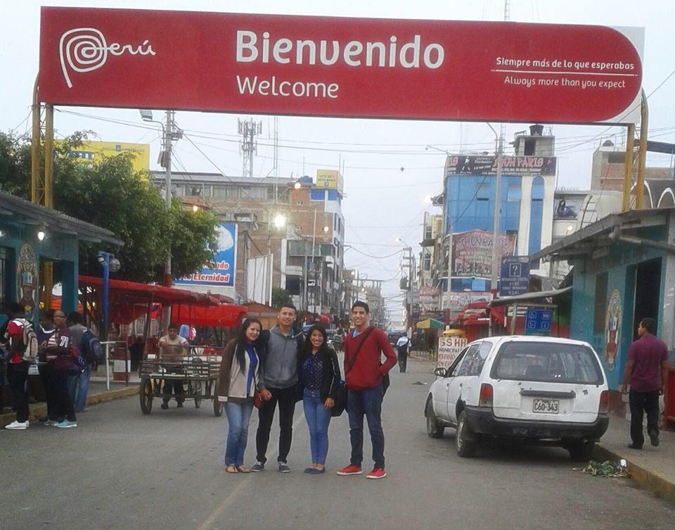 de viaje con la familia en PERU