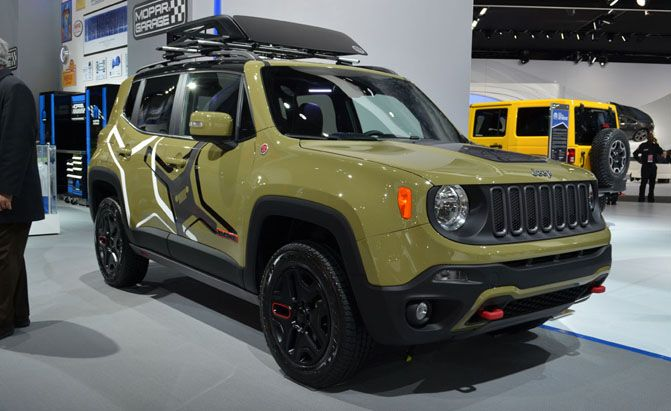 Commando Green Trailhawk With Mopar Accessories Jeep Renegade 2015 Jeep Renegade Green Jeep