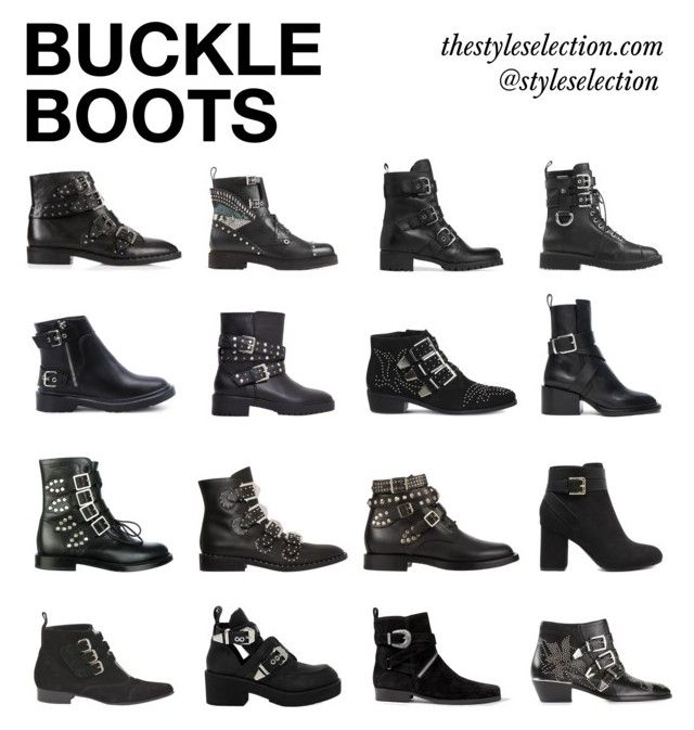 """""""Buckle boots"""" by ferned ❤ liked on Polyvore featuring Givenchy, Giuseppe Zanotti, Yves Saint Laurent, Tabitha Simmons, AllSaints, Jeffrey Campbell, MANGO, Prada, Office and Chloé"""