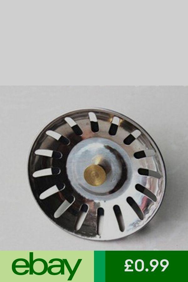 Stainless Steel Kitchen Sink Strainer Waste Plug Drain