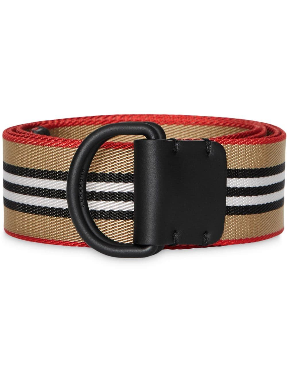 Icon Stripe Double D Ring Belt D Ring Belt Belt Burberry