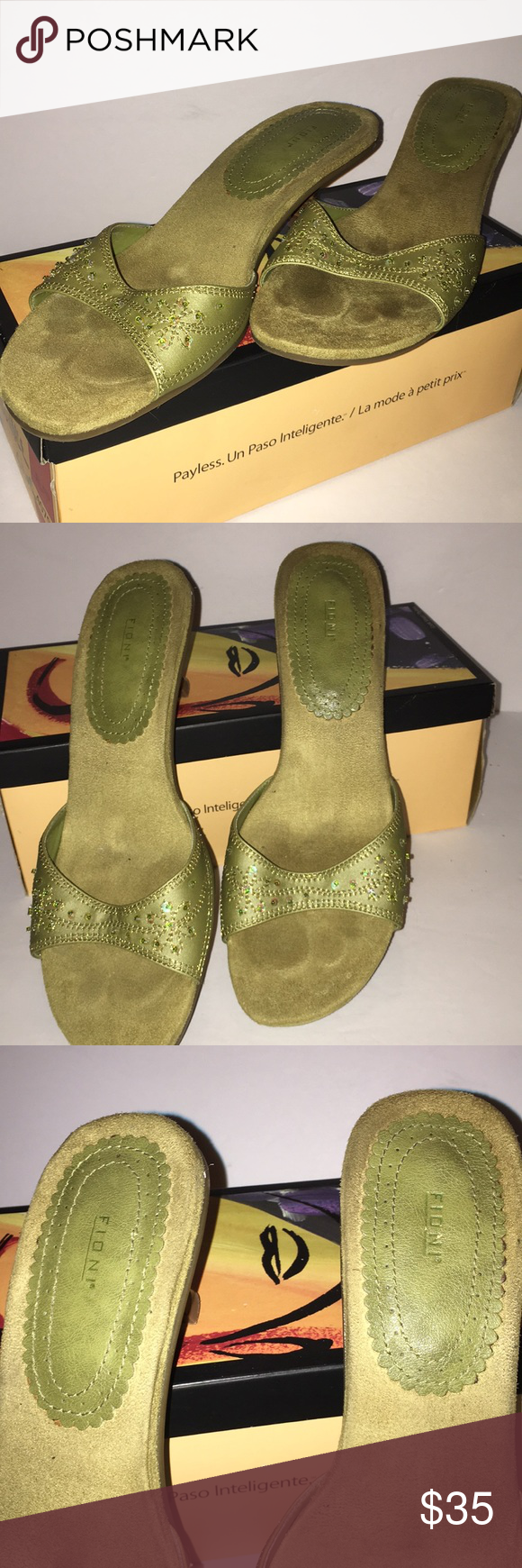 d3da00fd6566 Women s lime green Sandler shoe 1 inch lime green heel Kastle sandal by  Fioni with