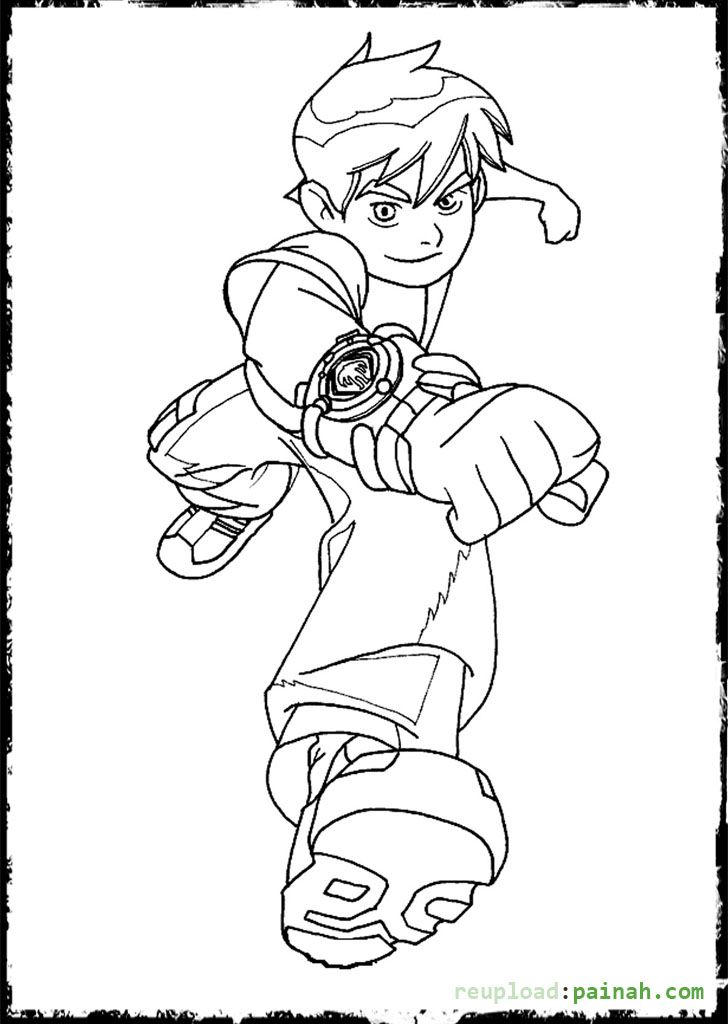 Ben Ten Coloring Pages Run Coloring Pages Pinterest Free printable - copy coloring pages barbie mariposa