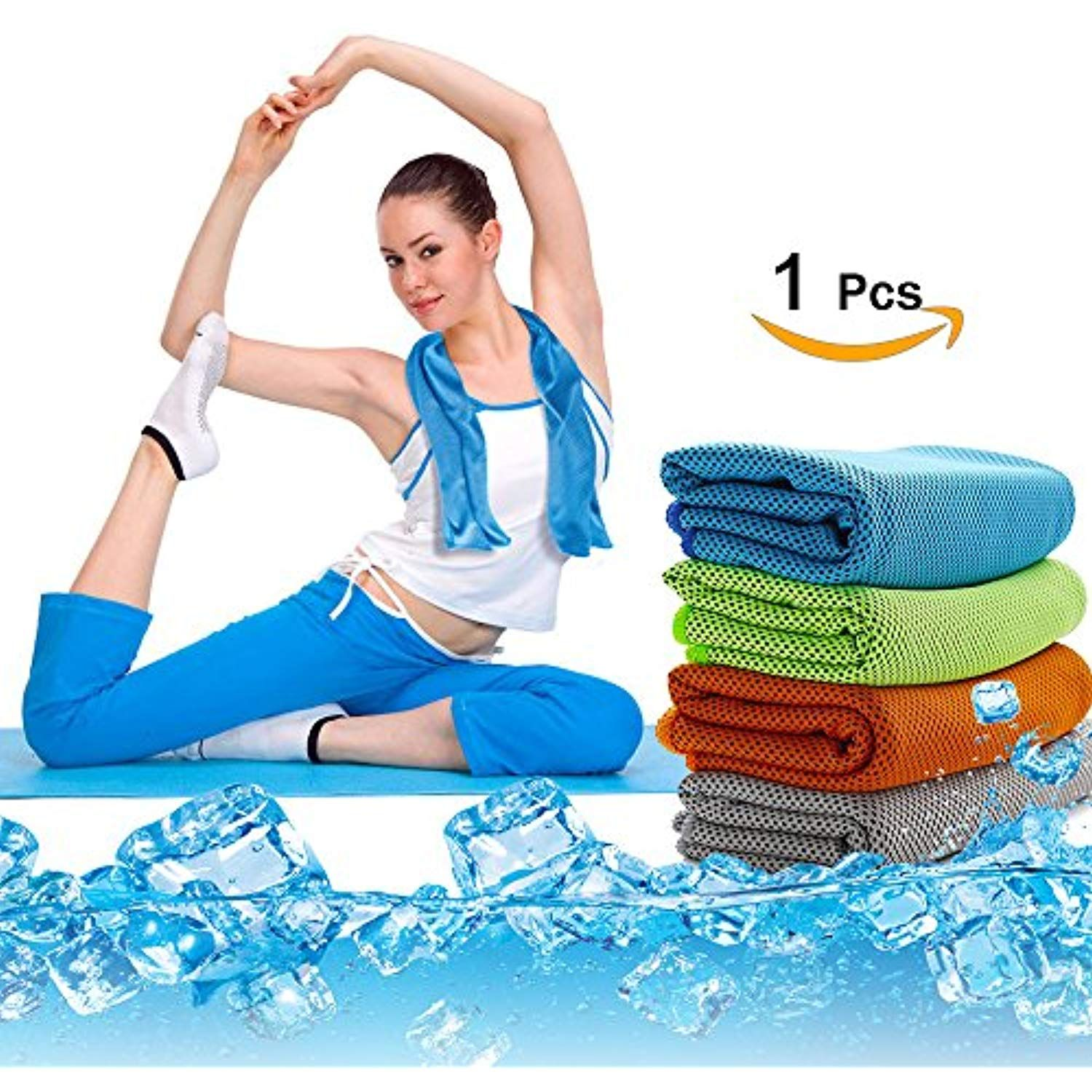 Sealive Yoga Mat Towel Cooling Towel Super Soft Sweat Absorbent Non Slip Bikram Hot Yoga Towels Microfiber Sp