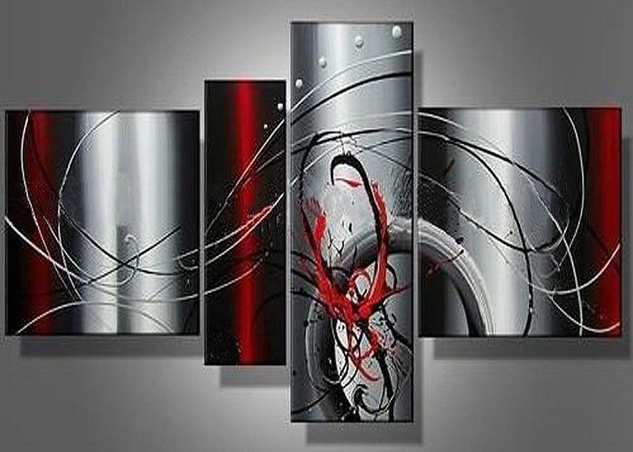 Pin On Home Decor #red #paintings #for #living #room