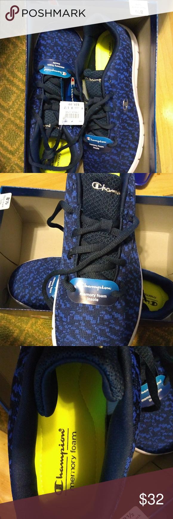 4e568d8ab3319 Brand new Champion men s shoes Men s size 8.5 can fit women s 9.5 Blue Champion  shoes
