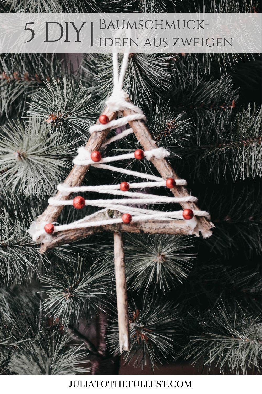 Basteln Weihnachten Christbaumschmuck Vintage Weihnachtsdeko Deko
