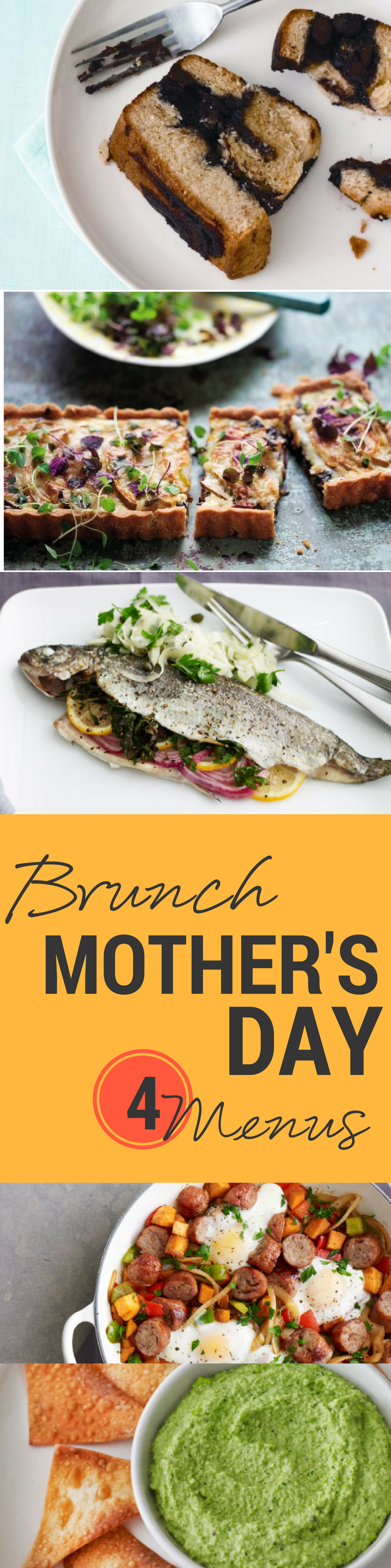 4 Mothers Day Brunch Menus Food And Drink Ideas Pinterest