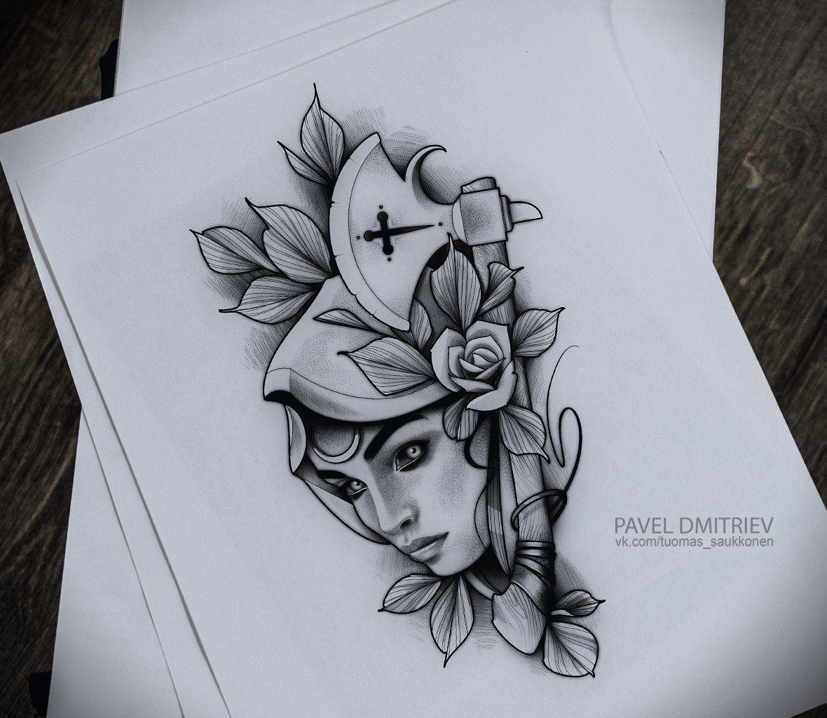 Blackwork Tattoo Dotwork Linework Blacktattoo Neotraditional Portrait Drawing Sketch Dark Inspiracao Para Tatuagem Adagas Tattoo Tatuagem Grega