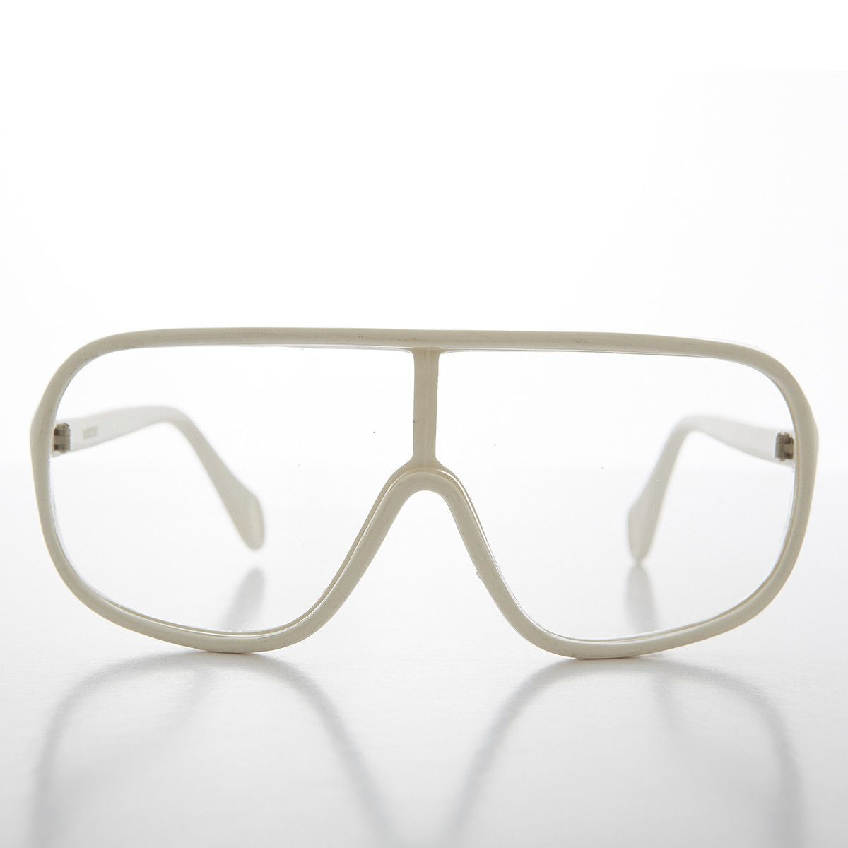 6979172aaa10 Hip-Hop Wrap 90s Vintage Safety Clear Lens Glasses - Zion