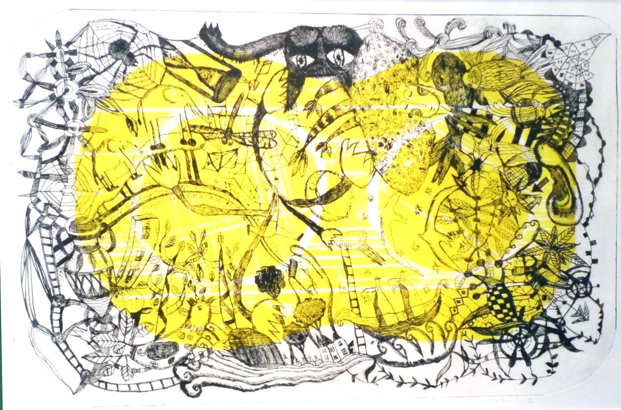 Paper Prints&Drypoint  HIromi sumida 「日々のできごと」