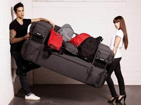 Eastpak Unveils Sofa That Could Be Used As Bags June 2013