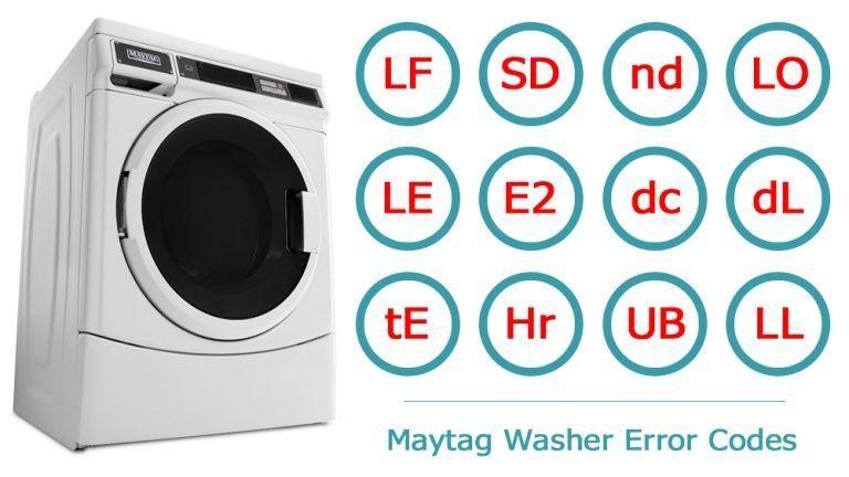 Maytag Washer Error Codes | Washer and dishwasher error ...