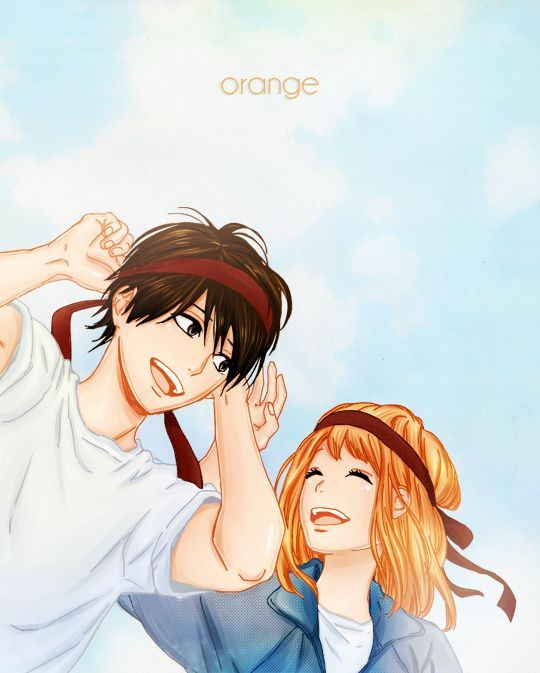 Orange Naho And Kakeru Aww I Love This Episode Except For The Fact That They Didn T Kiss But You Know Detai Anime Orange Anime Anime Romance