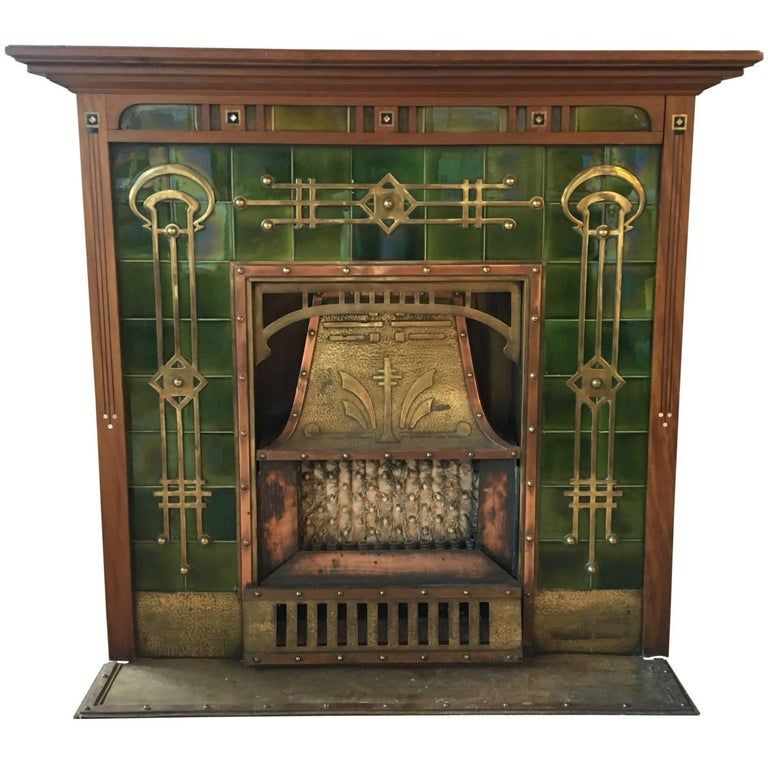Breathtaking Art Deco Fireplace, circa 1920s #artdecointerior