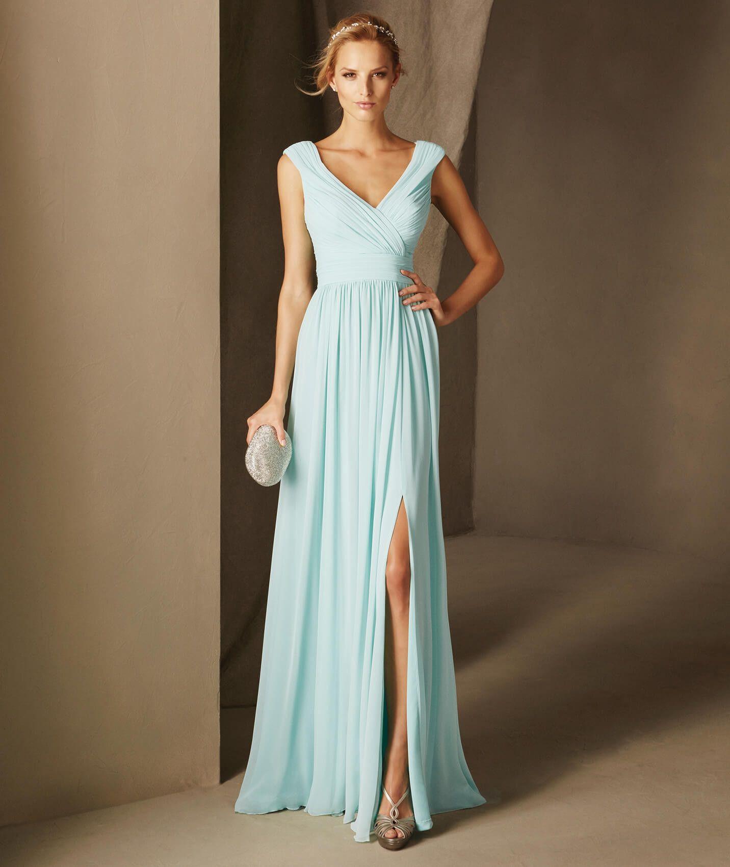 BABEL es un vestido de fiesta evasé realizado en gasa, escote en ...