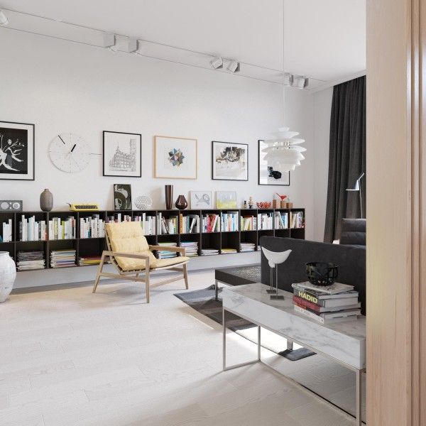 Scandinavian Living Room Furniture Ideas Living Room Bookshelves