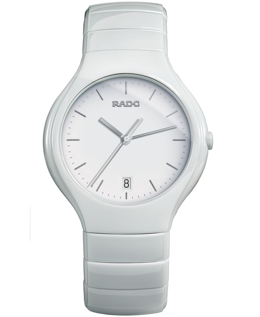 72007b53f Rado Watch, Unisex Swiss True White Ceramic Bracelet 41mm R27695022 ...