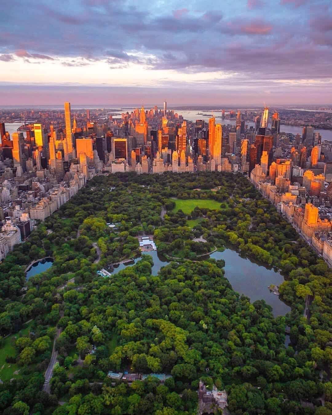 Central Park At Dusk 1080 X 1350 New York City Travel New York Life New York Wallpaper