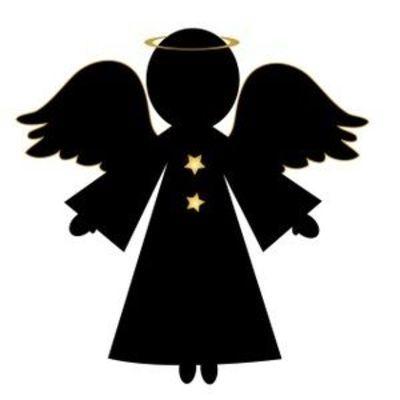 Free Angel Clip Art Image: Christmas Angel in Silhouette ... | Angel silhouette, Silhouette ...
