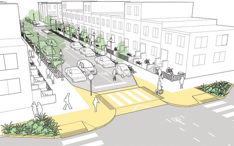 Neighborhood Street National Association Of City Transportation Officials Urban Planning