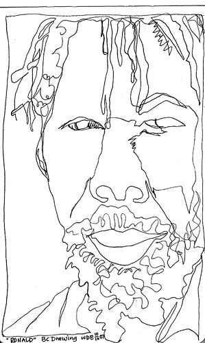 Blind Contour Line Drawing Face : Face contour teaching pinterest contours drawings