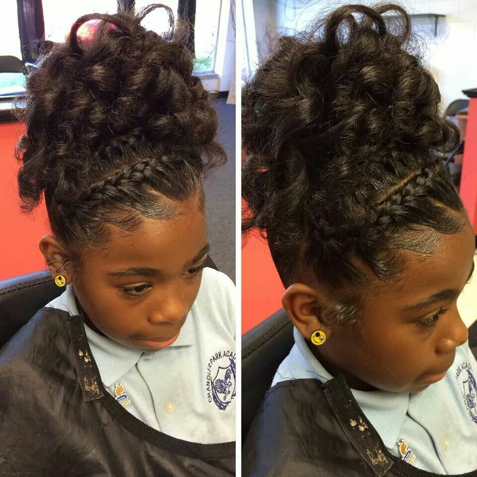 Braided Updo For All Ages Natural Hair Styles Kids Hairstyles Lil Girl Hairstyles