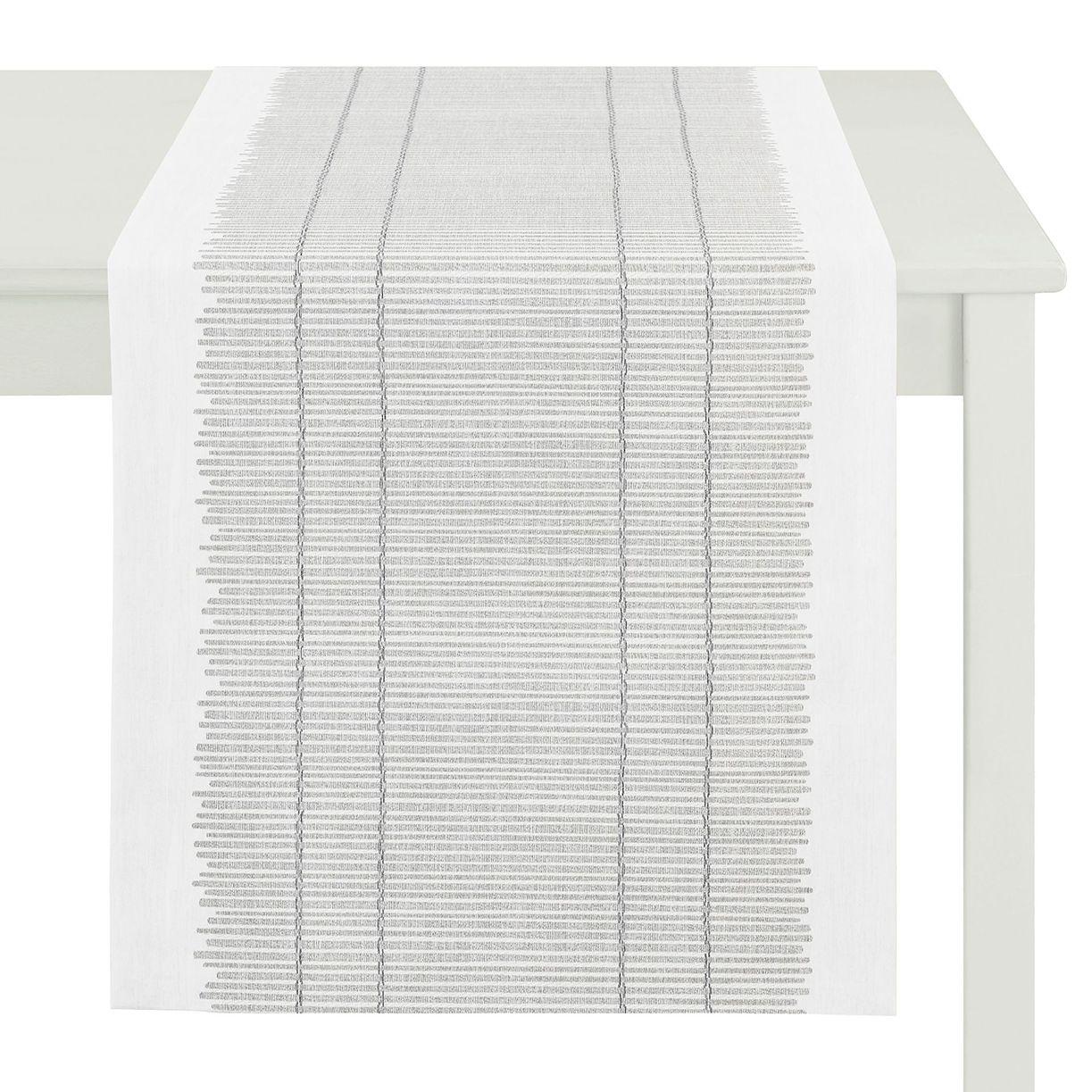 Apelt Tischl Ufer Deda Weiss Webstoff Modern 48x140 Cm Bxt In 2021 Moderne Tischdecken Tischlaufer Modern Tischlaufer Grun