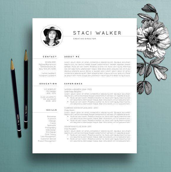 This professionally designed 3 piece resume set downloads