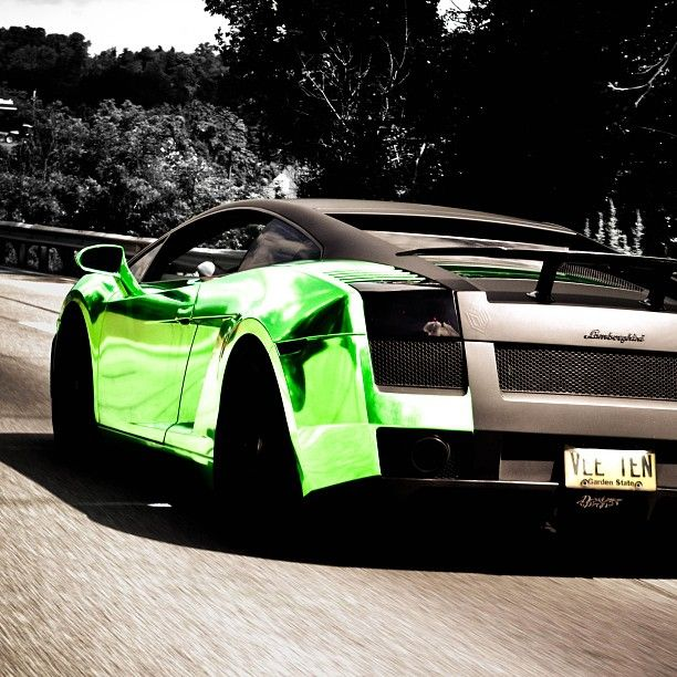 Perfect Marc Cavallou0027s Beautiful Chrome Green Lamborghini Gallardo Nice Design