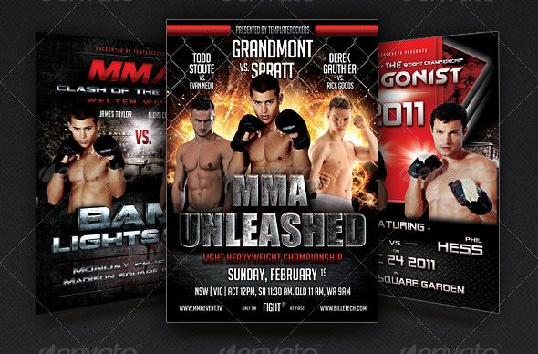The Fight Flyer Bundle 3 Fightsport Flyers – Ufc Flyer Template